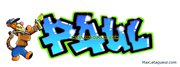 Tag graffiti prénom Paul