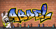 Graffiti personnalisable sticker wall decall mur chambre déco murale tag