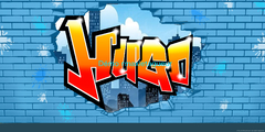 Tag graffiti prénom Hugo