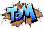 Graffiti tag prenom Tom