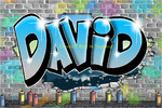 Graffiti tag prenom David