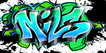 Graffiti NILS, Graffiti personnalisé, galerie graffiti prénom, graffiti, graffiti wall decal, graffiti personnalisé, graffiti prénom, graffiti custom, custom graffiti art, custom graffiti art canvas, custom graffiti name, custom graffiti wall decal, graff